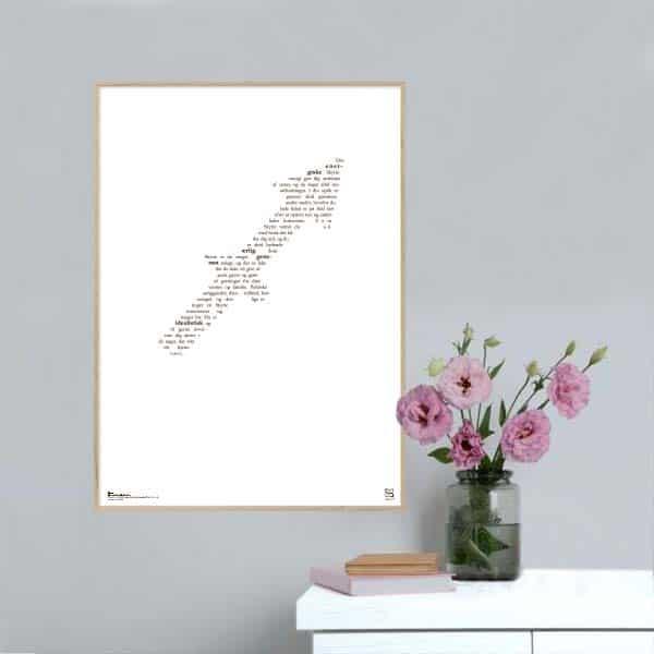 Grafisk plakat med tekst om stjernetegnet skytten.