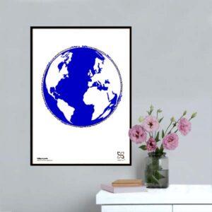 """Plakat med sangteksten til Ingemann's """"Dejlig er jorden""""."""