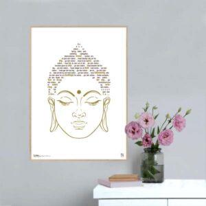 Plakat med tekster. Spirituelle plakater. Visdomsbuddhaen