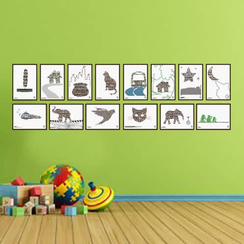 lærerige plakater med børnesange
