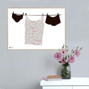"""Plakat med teksten fra Dan Turèlls digt """"Gennem byen en sidste gang"""""""