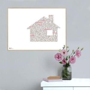 """Plakat med teksten fra Dan Turèlls digt """"Hyldest til hverdagen"""""""