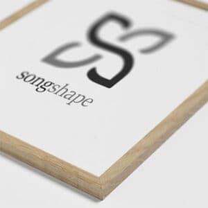 Køb en flot ramme til din Songshape plakat. Rammen er produceret med en flot egetræskant.