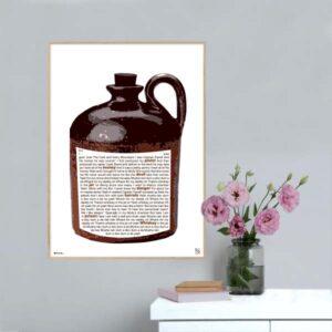 """Plakat med sangteksten til """"Whiskey In The Jar"""""""