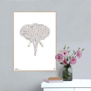 "Plakat med sangteksten ""Elefantens vuggevise""."