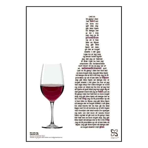"""Plakat med sangteksten til """"Ild i min røg"""" af Mathilde Falch"""