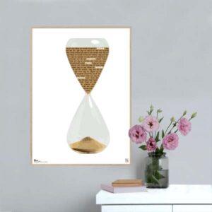 """Plakat med sangteksten til """"Tiden"""" af Mathilde Falch"""