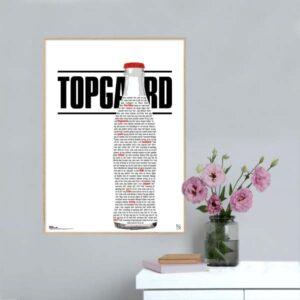 """Plakat med sangteksten til """"Cola 24/7"""" af Niki Topgaard feat. Chief 1"""